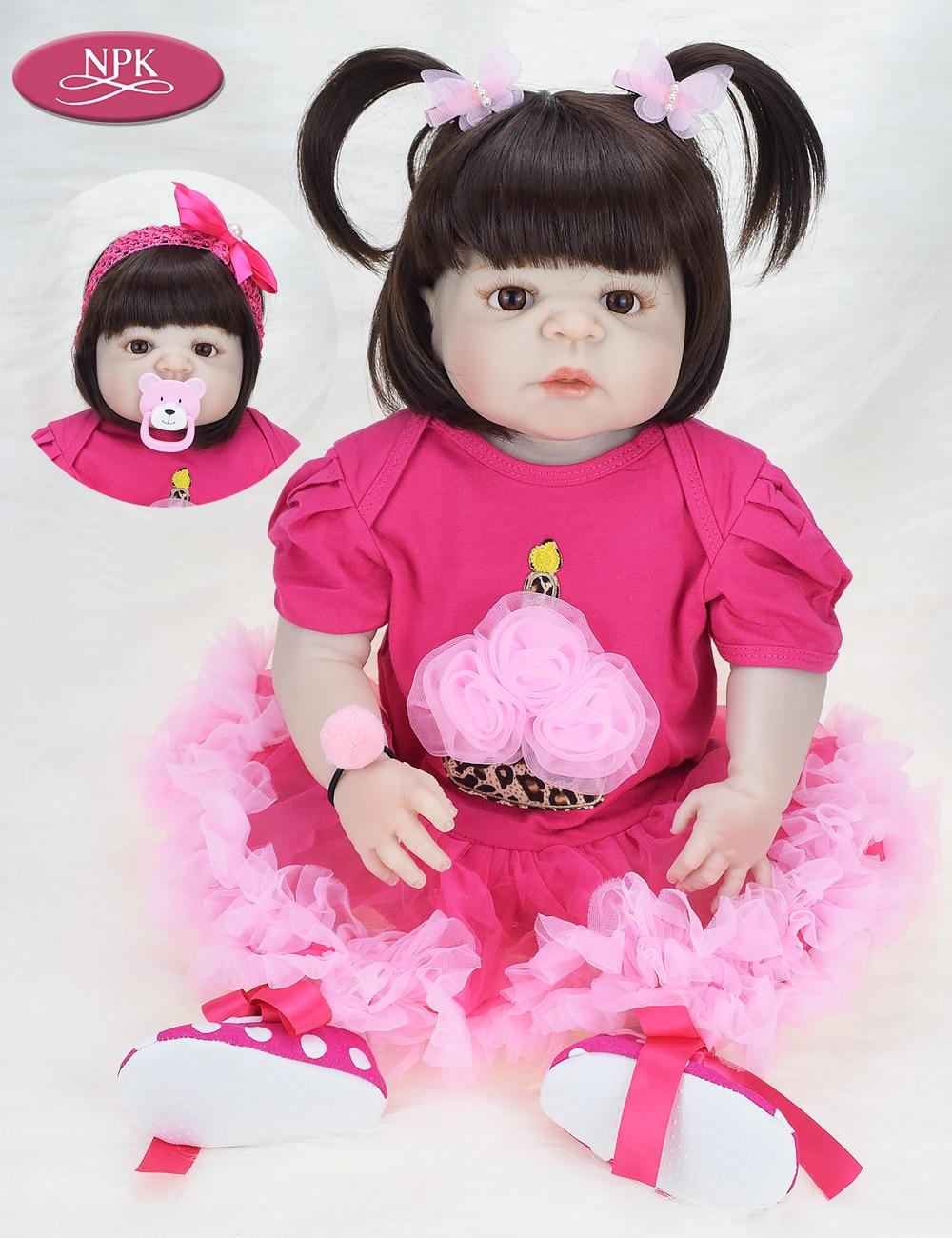NPK 57CM Full Body Soft Silicone Girls Reborn Baby Doll Bathe Toys Lifelike Princess Girl Dolls Bebe Real Reborn Boneca Menina  (10)