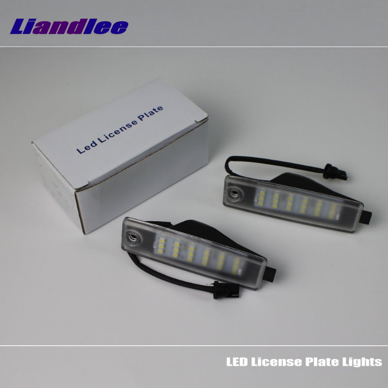 Liandlee For Toyota Land Cruiser J200 V8 / Lexus LX 570 LX570 / LED Car License Plate Light / Number Frame Lamp / LED Lights<br>