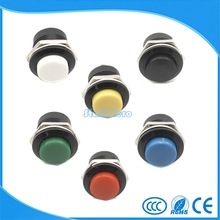 10pcs Momentary Push Button Switch 16mm Momentary pushbutton switches 6A/125VAC 3A/250VAC  Round Switch