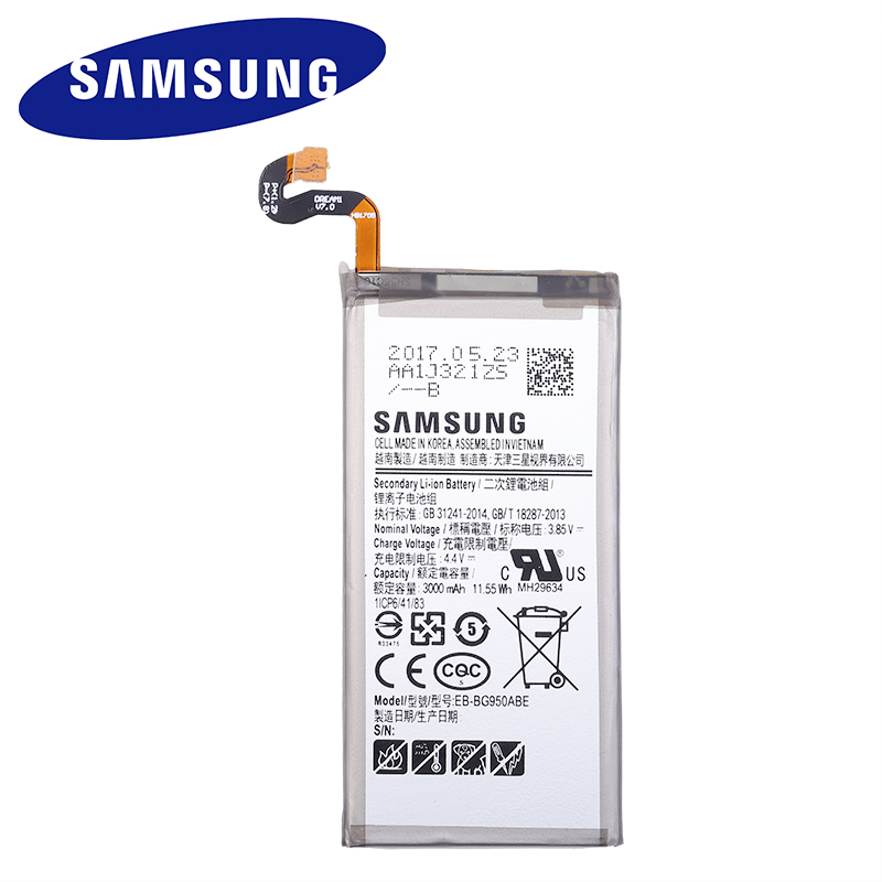 Samsung Original Battery For Galaxy S8 SM-G9508 G950F G950A G950T G950U G950V G950S EB-BG950ABE Mobile Phone Batteries 3000mAh title=