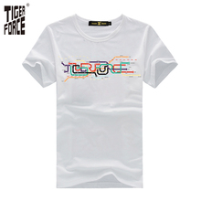 TIGER FORCE 2017 Men Fashion T-shirt 100%Cotton O-Neck Casual Style Funny t shirts Mens Short Sleeve Free Shipping TJ-2045(China)