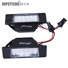 Hopstyling 2PCS For Nissan X-TRAIL Juke NV200 Versa & Versa Note Rear License Plate Lamp Light OEM LED Number plate Lights(China)