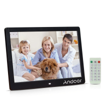 "Andoer 13"" TFT LED Digital Photo Frame 1280*800 Support MP3/MP4/E-book/Calendar/Alarm clock Function with Remote Control"