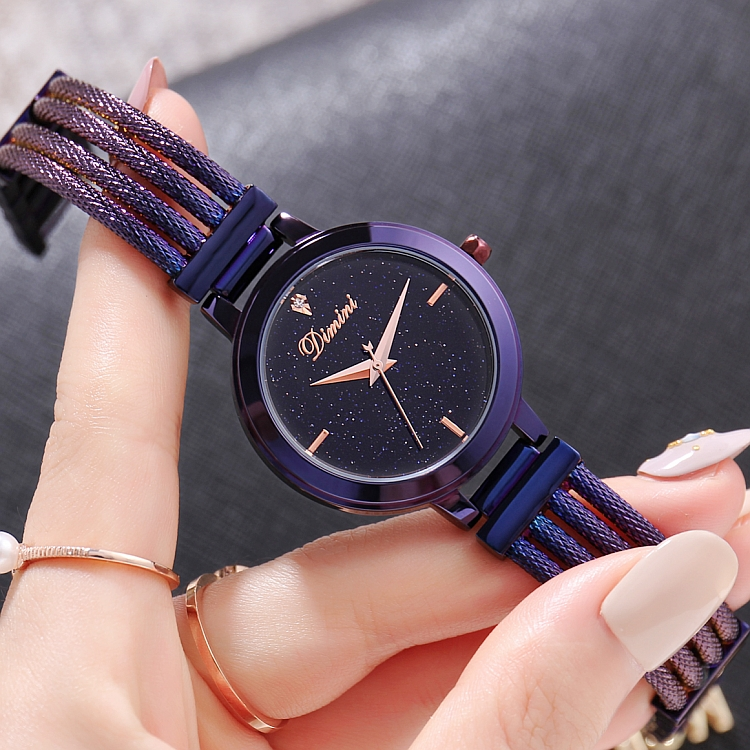Top Quality Luxury lady Crystal Watch Women black Dress Watch.Fashion Gift Rose Gold Watches Female Purple Wristwatches Hot sale<br>