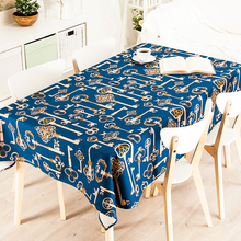 French Cartoon Car Horse Cloth Linen Thick Pound Tablecloth Restaurant Living Wedding Villa Grass Square Table Cloth Cover(China)