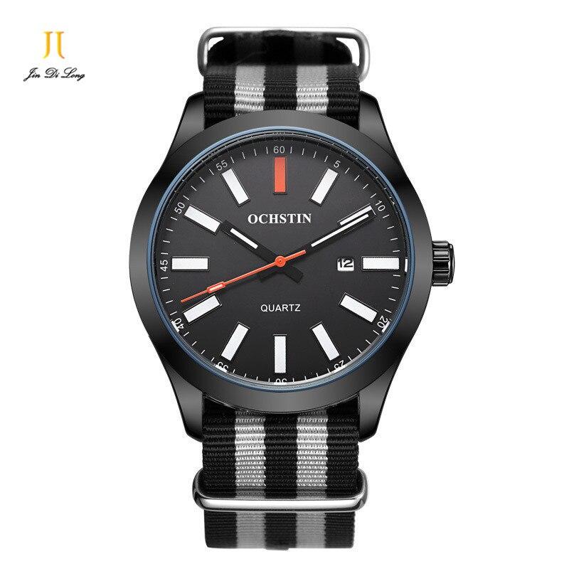 OCHSTIN Nylon Watches Men Luxury Top Brand Dress Watch Male Sport Waterproof Quartz Wrist Watch Men Clock relojes hombre hodinky<br>