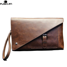 Fashion Crazy horse Leather Business Men Clutch Wallet, Men Top Grace Handbag Wallets, Big Capacity Men Wallet Purses billeteras