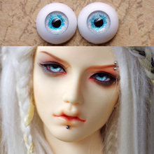 1 Pair Acrylic Silver + Blue Color Eyes for Doll 10mm 12mm 14mm 16mm 18mm 20mm 22mm 1/3 1/4 1/6 1/8 BJD Doll Eyes Toys(China)