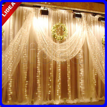 3M*3M 300 LED Party Wedding New Year Christmas Garland String Icicle Outdoor Waterfall Fairy Decoration Curtain Light CN C-38(China)