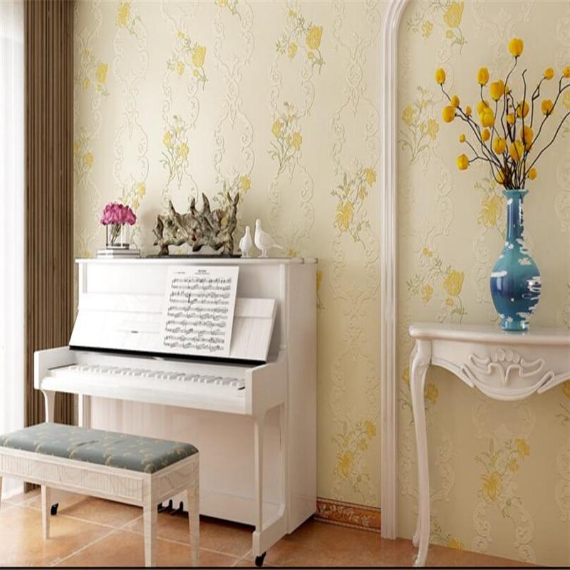 beibehang 3d crisp three - dimensional non - woven wallpaper simple European pastoral  wedding room full floor bedroom living <br>