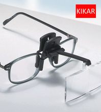 KIKAR Clip on Flip up Glasses 4pc Folding Magnifier Reading Magnifying Hand Free Toys Jeweler Loop and Jewelry Loupe Hat Dental(China)