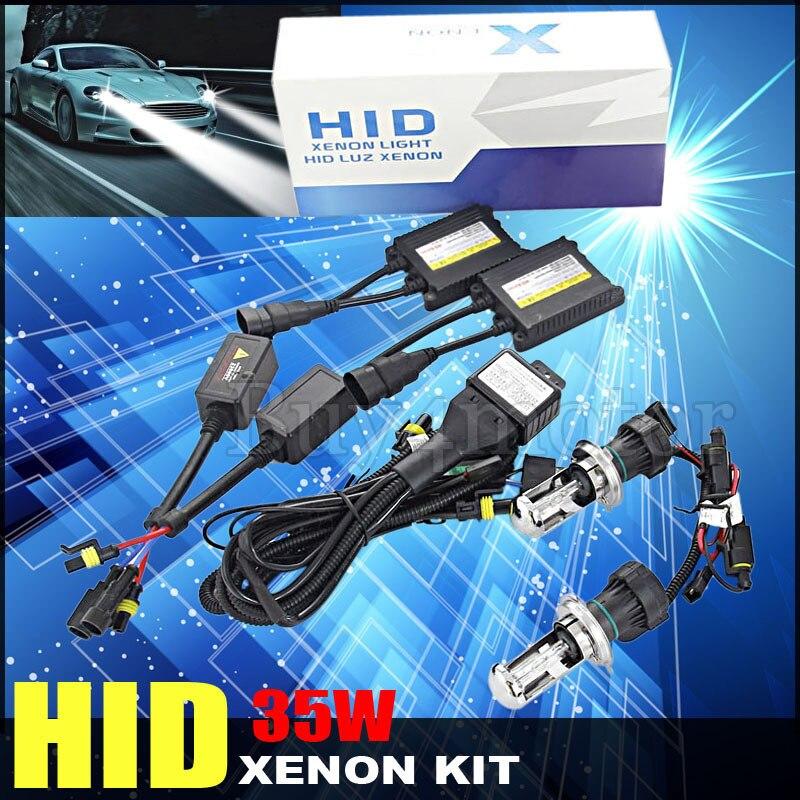 35W 12V DC H4-3 H4 HID Kit Bi xenon Bixenon hi/lo beam 4300K 6000K 8000K 10000K 12000K Replacement light Headlight Bulb Ballast<br><br>Aliexpress