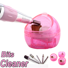 Wholesale Nail Art Bits Polisher, Nail Drill Bits Cleaner With Brush(China)