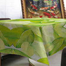 Tablecloth pastoral style plants green leaves house restaurant wedding home Banque decorations Picnic mat on the table for gift(China)