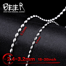 BEIER Wholesale Man's Cheap Fashion Necklace Chain, Rice Style Unisex Man Woman BN1001
