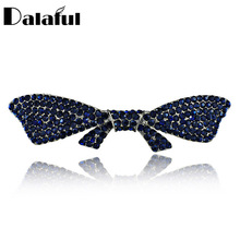 Elegant Bowknot Butterfly Crystal Chic Hair Clip Barrette Hairpin Accessories Hair Jewelry For Woman Wedding F118(China)