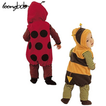 Loongbob New Spring & Autumn Baby Rompers Infant Lovely Animal Bees Baby Clothes Romper Ladybug Beetles Style Baby Clothing