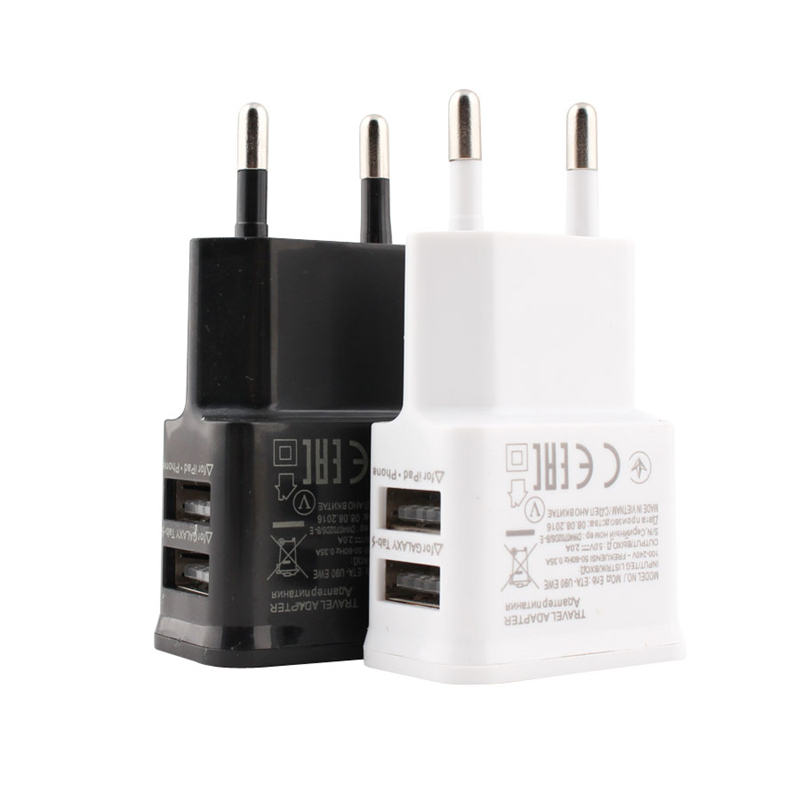 Adapter Power-Charger Eu-Plug iPad Travel Universal iPhone Xiaomi Samsung 5v 2a USB  title=