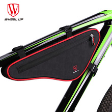 Wheel Up Waterproof Outdoor Triangle Bicycle Front Tube Frame Bag 2017 New Reflective Large Capacity Nylon MTB Cycling Front Bag(China)
