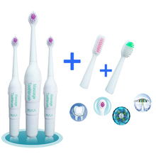 1338 Super Cheap 3PCS Brush Head Value Family Package New Health Fashion White Teeth Massage Gum Electric Toothbrush