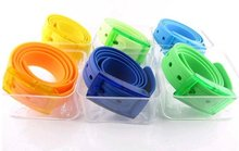 New Silicone Belt Colors Fruit Golf Baseball Softball Jelly Rubber plastic each in box Free Shipping(China)