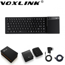 VOXLINK Mini PC WIFI keyboard 4GB/64GB TV Box Support Windows 10 Intel Trail Z8300 Bluetooth With Wireless keyboard Touch pad(China)