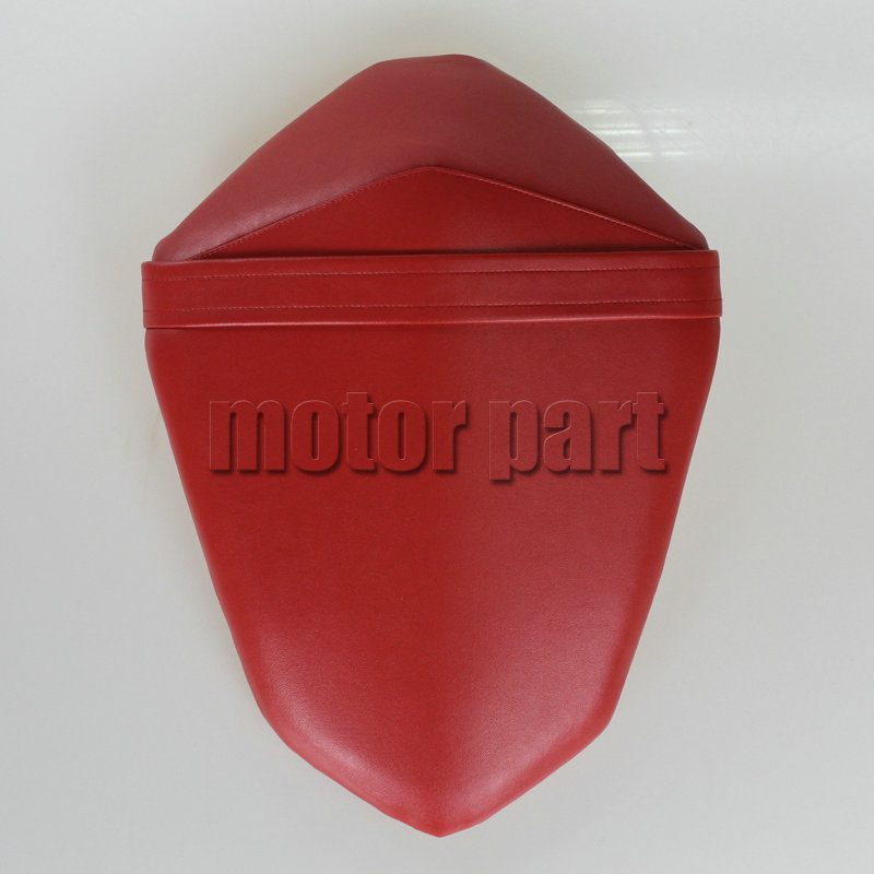 For 2013-2014 Kawasaki Z800 Z 800  Motorcycle Leather Passenger Rear Pillon Seat Red Color 13 14<br>