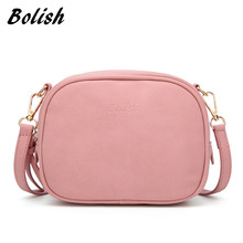 Bolish Soft Nubuck Leather Female Crossbody Bag Fashion Spring and Summer Women Shoulder Bag small Tassel Flap Women Bag(China)