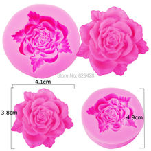 Milkmico M108 Rose Leaf Flower Shaped Silicone Mold Chocolate Candy Resin Clay Crafts Molds Fondant Cake Decorating Tools