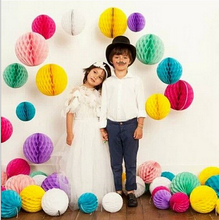 free shipping 200 pcs/lot 10 inch(25cm) Tissue Paper Honeycomb balls Party Honeycomb Lanterns for Wedding Garland Decoration