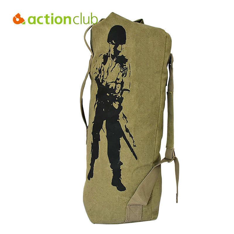 Actionclub Outdoor Travel Luggage Army Bag Canvas Hiking Backpack Camping Tactical Rucksack Men Military Backpack mochila SH360(China)
