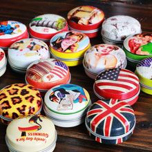 8Pcs/lot Classic Small Tin Box Jewelry Storage Box  Coins Case Coin Purse Kit Zakka Cable Organizer Novelty Household