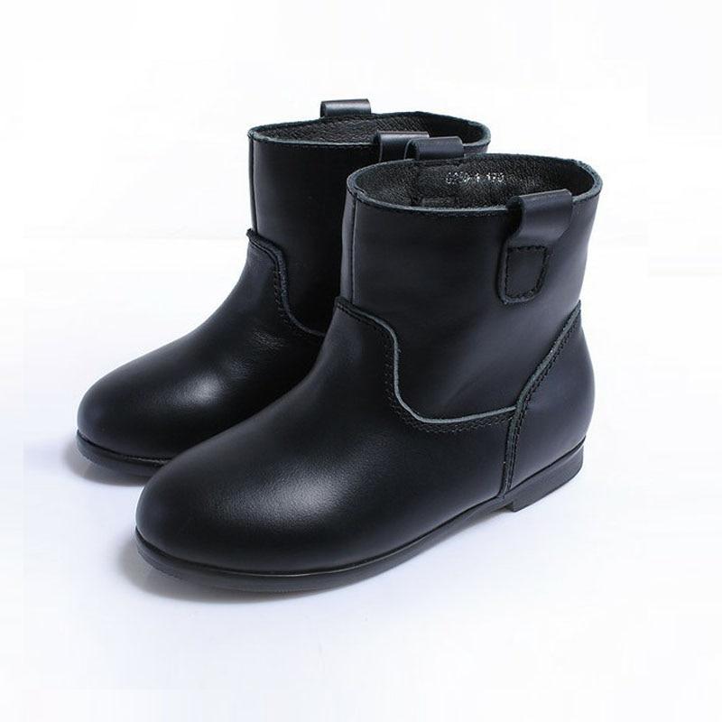 Genuine Leather Kids Boots Spring Autumn Winter Fashion Designer Girls Boots Kids Felt Boots With Fur <br>