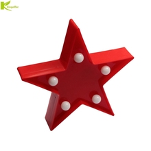 Kingoffer 3D Star Night Light Pentagram Led Children's Room Decorative Desk Table Lamp Battery Operated Led Small Nightlight(China)