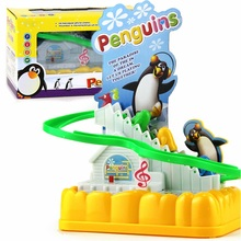 Penguin sliding board Climb Stairs Trolltech Electric Slide Track Kids Funny music Assembled Toy Children's Educational Toys