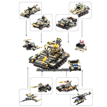 12 in 1 Technic Warships Tank Aircraft Military Bricks Building Blocks Toys For Kids Lepin Compatible with legoeINGlys 13019