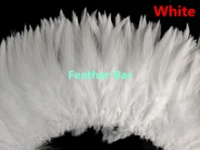 "1kgs White color 4-6"" 5-6"" 6-8"" Beautiful Decolorizing Natural Grizzly Rooster Saddle Feathers strung Hair Extensions"
