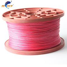 Free Shipping 10m 1300lb extreme strong uhmwpe fiber braid spearfishing gun reel line flat version 2.3mm 16 strands(China)