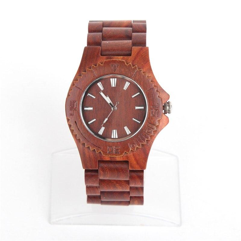 Natural wood brown handmade unisex men Vegan Quartz Casual Wrist original watch WA-64-5602<br>