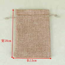 10pcs 13cmx18cm/5x7inch Faux jute/ burlap Mini Drawstring Jewelry Pouches Bags For wedding/handmade soap Custom logo or size