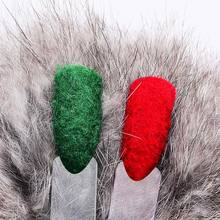 Mtssii Fuzzy Flocking Christmas Velvet Nail Glitter Powder Colorful Dust For Manicure DIY Nail Art Tips Decoration(China)
