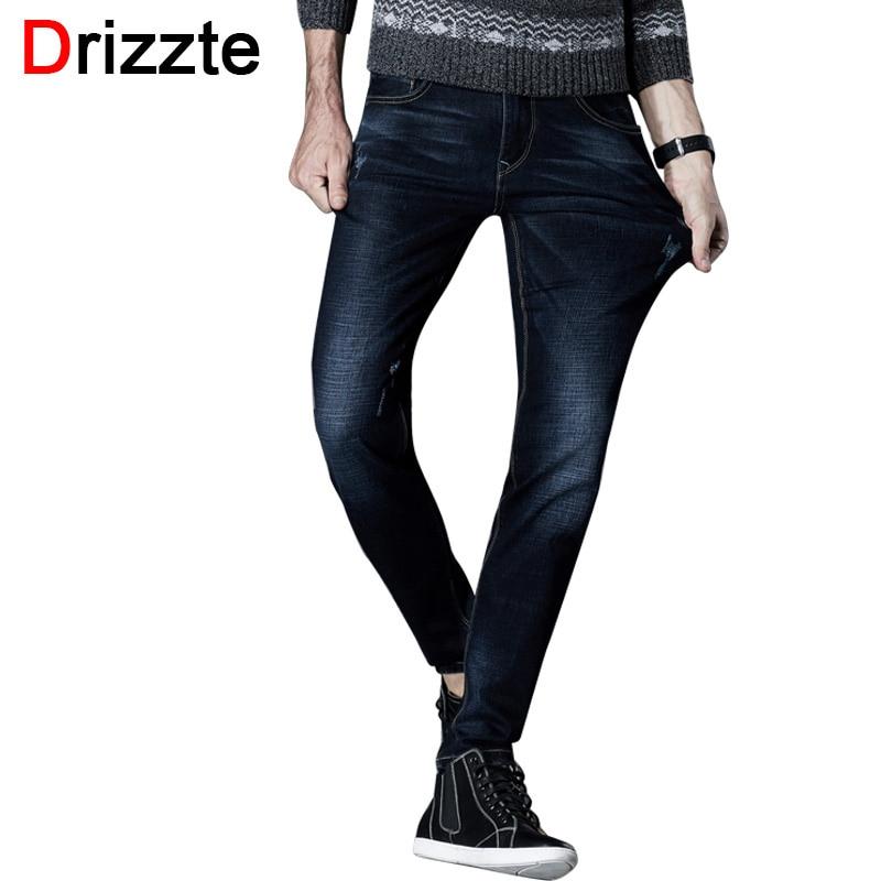 Drizzte Jeans Men Black Blue Stretch Denim Brand designer Mens Jean Size 30 32 34 35 36 38 40 42 Pants Trousers MaleÎäåæäà è àêñåññóàðû<br><br>