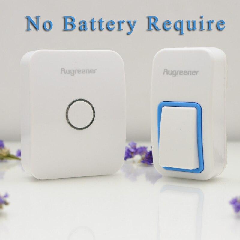 EU/US/UK Plug-in Wireless Doorbell No Battery Need Waterproof wireless Door Bell 1 Outdoor Doorbell Button +1 Indoor Receiver<br><br>Aliexpress