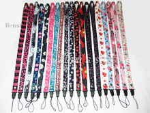 Girls Daisy Flower Painting Key Lanyard ID Badge Holders Leapard Cherry Phone Neck Straps lots