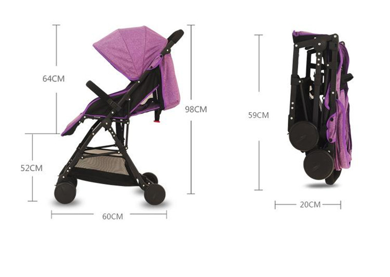 3 in 1 Bebe Umbrella Car High Landscape Ultra-light Baby Stroller Folding Baby Girl&Boy Carriage 0-3 Years Old Purple,Red,Blue.10