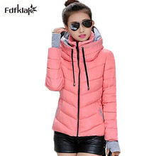 Snow wear wadded jacket female 2017 autumn winter jacket women slim short cotton-padded jacket outerwear winter coat women Q356(China)