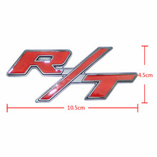 Metal Red R/T RT Car Trunk Rear Tailgate Emblem Badge Sticker For Dodge Challenger Charger Durango Journey Stratus Avenger Nitro