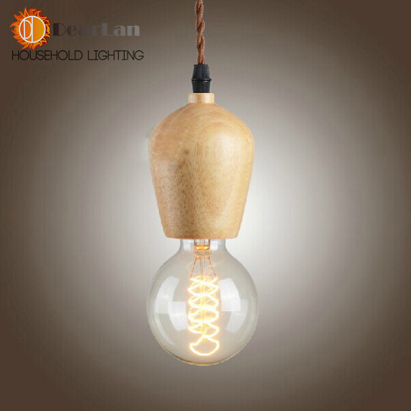 Vintage American Style Single Head Wood Pendant Light Lamps For Home,Attractive Modern Droplight Pendant Lamps(DP-71)<br><br>Aliexpress