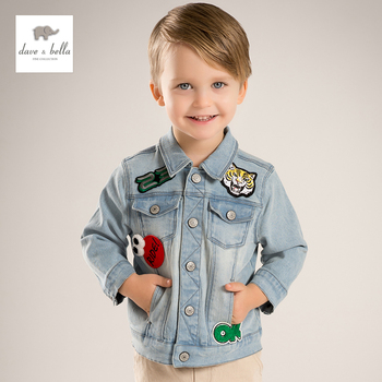 DB5176 dave bella printemps garçons denim vestes manteau mode survêtement fille enfants denim veste