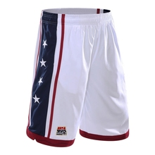 Cheap USA Stars Black Basketball Shorts Quick Dry Breathable Training Basket-ball Jersey Sport Running Shorts Men Sportswear(China)